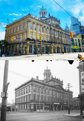 2021/ 1897 - St Lawrence Hall at 157 King St E at Jarvis St, southwest corner - constructed in 1850 at a cost of £5,455 to build