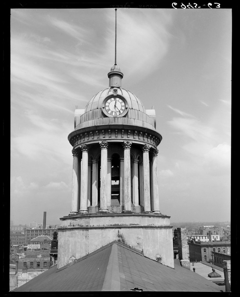 1950 - Cupola of St Lawrence Hall, looking north