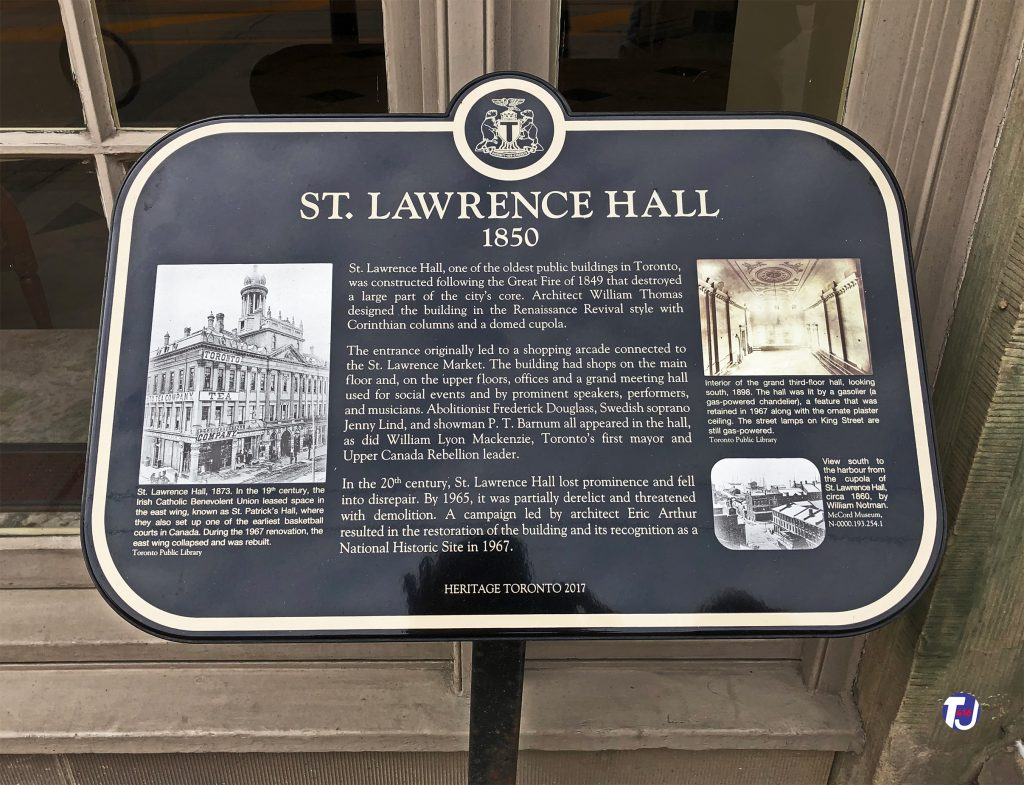 2019 - St Lawrence Hall heritage plaque