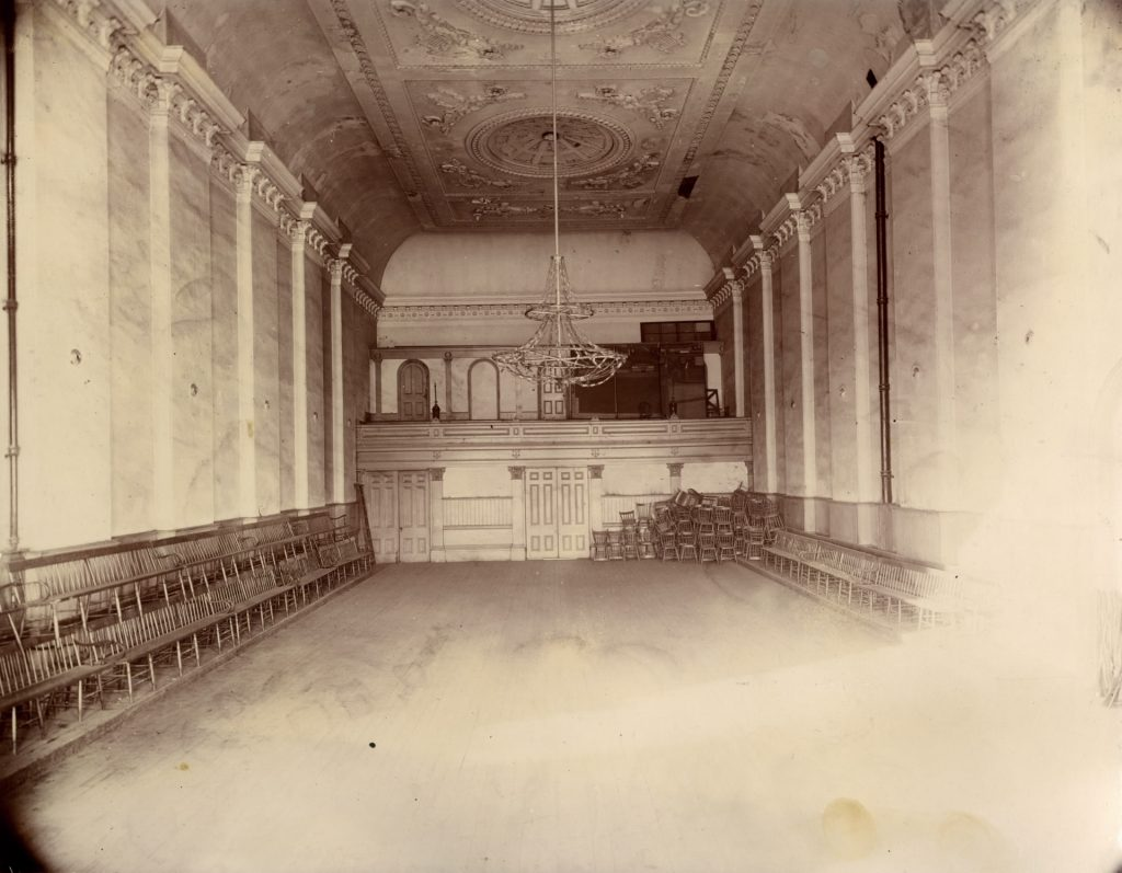 1898 - The north end of the Great Hall