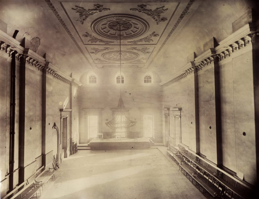 1898 - The south end of the Great Hall