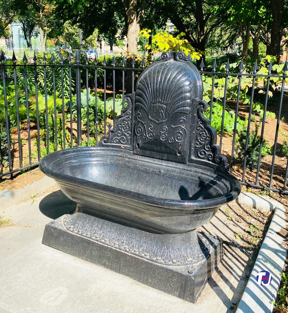 2020 - Water trough now in St James Park on King St E, across the street from the Hhall