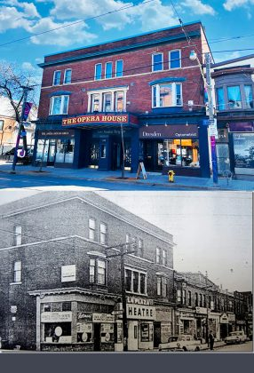 2021/1963 - The Opera House (originally La Plaza) at 735 Queen St E, east of Broadview Ave on south side
