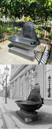 2020/1972 - Water trough once on Jarvis St, south of King St E, beside St Lawrence Hall now at St James Park